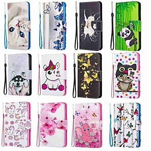 cheap Samsung Case-Case For Samsung Galaxy S20 / Galaxy S20 Plus / Galaxy S20 Ultra Wallet / Card Holder / with Stand Blue Butterfly PU Leather / TPU for Galaxy A51 / A71 / A70 / A50 / A30S / A20 / A20E