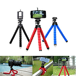 cheap Phone Mounts & Holders-Phone Tripod Mini Flexible Octopus Tripod For iPhone Samsung Xiaomi Huawei Mobile Phone Smartphone Mini Portable Tripod Holder