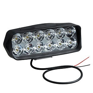 cheap Motorcycle Lighting-12V LED Headlights Modified External Spotlight 12 Lamp Beads ABS Shell For Electric Vehicle Motorcycle
