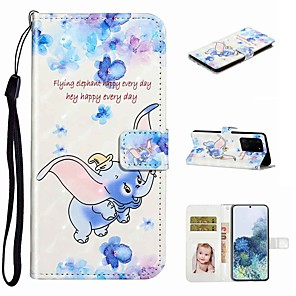 cheap Samsung Case-Case For Samsung Galaxy S20 / Galaxy S20 Plus / Galaxy S20 Ultra Wallet / Card Holder / with Stand Full Body Cases Dumbo PU Leather / TPU for Galaxy A51 / A71 / A80 / A70 / A50 / A30S / A20