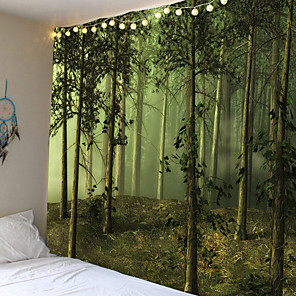cheap Wall Tapestries-Trippy Tapijt Muur Opknoping Stoffen Bos Hippie Boom Tapestry Psychedelische Landschap Mountain Boho Decor Muurschilderingen Muur Tapijt