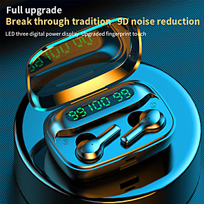 cheap Wired Earbuds-LITBest R3 TWS True Wireless Earbuds Stereo Dual Drivers Bluetooth 5.0 Auto Pairing 1 to 1 Replica for Mobile Phone