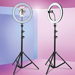 cheap Ring light-Round anchor live broadcast bracket fill light beauty light 8/10/13inch