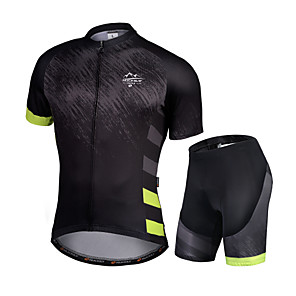 cheap Cycling Jersey & Shorts / Pants Sets-Nuckily Men's Short Sleeve Cycling Jersey with Shorts Black / Green Gradient Bike Quick Dry Sports Gradient Road Bike Cycling Clothing Apparel