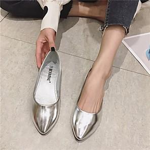 cheap Women's Sandals-Women's Sandals Flat Sandal Summer Flat Heel Closed Toe Daily PU Gold / Silver / Gray