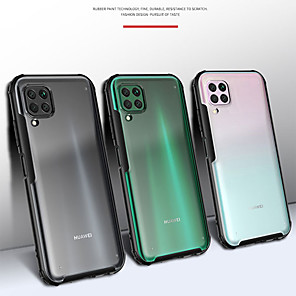 cheap Huawei Case-Shockproof Transparent Frosted PC Phone Case For Huawei P40 Pro Plus P40 Lite P30 Lite P30 Pro Soft TPU Silicone Frame Protection Cover