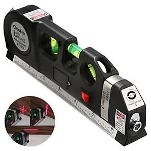 cheap Home Automation & Entertainment-Multipurpose Level Laser Measure Line Adjusted Standard Metric Ruler - Black