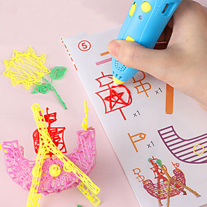 cheap Drawing Toys-Drawing Toy 3D Printing Pen Creative Plastic Shell Painting USB Charging Output Low Temperature Educational Toys Child's Adults' Women's Boys and Girls for Birthday Gifts or Party Favors