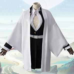 cheap Anime Costumes-Inspired by Demon Slayer: Kimetsu no Yaiba Kanroji Mitsuri Anime Cosplay Costumes Japanese Cosplay Suits Coat Blouse Top For Men's / Skirt / Socks / Waist Belt