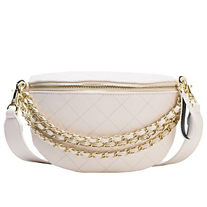 cheap Party Sashes-Women's Bags PU Leather Fanny Pack Zipper Chain for Daily White / Black / Purple / Orange