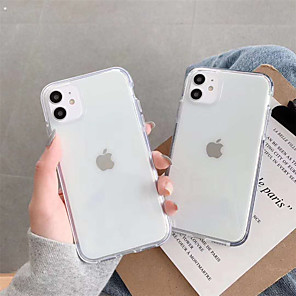 cheap iPhone Cases-Case For Apple iPhone 11 / iPhone 11 Pro / iPhone 11 Pro Max Shockproof Full Body Cases / Bumper Transparent TPU
