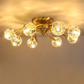 cheap Dimmable Ceiling Lights-QIHengZhaoMing 8-Light 53 cm Geometric Shapes Flush Mount Lights Metal Brass Modern 110-120V / 220-240V
