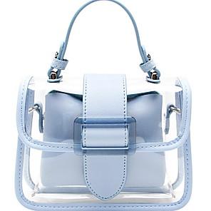 cheap Handbag & Totes-Women's Bags PVC Crossbody Bag Zipper / Chain for Daily Yellow / Sky Blue