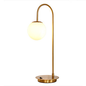 cheap Table Lamps-Nordic Table Lamp Golden Light Luxury Modern Minimalist Living Room Study  Glass Ball Bedroom Bedside Lamp
