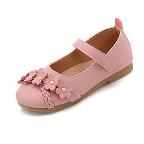 cheap Kids' Flats-Girls' Ballerina PU Flats Little Kids(4-7ys) / Big Kids(7years +) Flower Black / Pink / Beige Summer