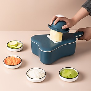 cheap Cooking Utensils-Vegetable Cutter Grater Round Handle Potato Carrot Slicer Scoop Kitchen Tool Used for washing and draining 11pcs set
