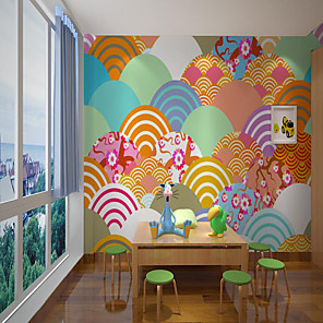 cheap Prints-Custom Self Adhesive Mural Wallpaper Japanese Fresh Picture Children Cartoon Style Suitable For Bedroom Children's Room School Party Art Deco   Home Decoration   Room Wallcovering