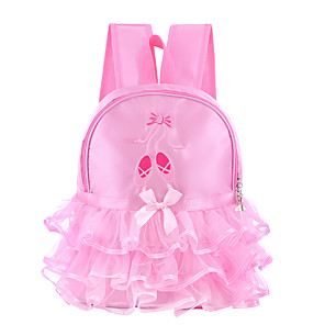 cheap Movie & TV Theme Costumes-dance accessories backpack / duffel bag girls' training / performance lace / oxford cloth bowknot / lace-trimmed bottom / embroidery