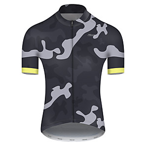 cheap Cycling Jersey & Shorts / Pants Sets-21Grams Men's Short Sleeve Cycling Jersey Nylon Polyester Camouflage Patchwork Camo / Camouflage Bike Jersey Top Mountain Bike MTB Road Bike Cycling Breathable Quick Dry Ultraviolet Resistant Sports
