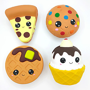 cheap Stuffed Animals-Squishy Squishies Squishy Toy Squeeze Toy / Sensory Toy Jumbo Squishies Dessert Cupcake Waffle Soft Stress and Anxiety Relief Slow Rising PU For Kid's Adults' Boys and Girls Gift Party Favor 4 pcs
