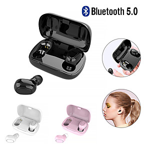 cheap TWS True Wireless Headphones-LITBest L21 TWS True Wireless Earbuds Wireless Bluetooth 5.0 Stereo with Microphone with Charging Box Auto Pairing for Sport Fitness