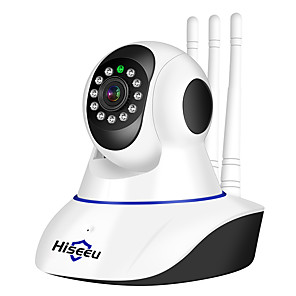 cheap Indoor IP Network Cameras-Hiseeu® 1080P IP Camera Wireless Home Security Surveillance Camera Wifi Night Vision CCTV Camera Baby Monitor Two-way Audio Built-in Microphone Speaker Motion Detection & Alarm Alert