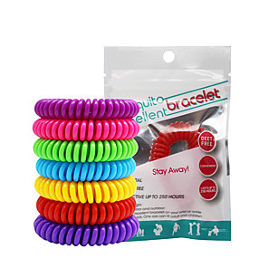 cheap Mosquito Repellent-20pcs Mosquito Repellent Bracelets Mosquito Repellent Wristbands Portable Non Toxic For Home Traveling Indoor Outdoor Adults Kids Teenager Baby