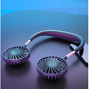 cheap Travel Comfort-Hand Free Mini USB Portable Fan - Rechargeable Headphone Design Wearable Neckband Fan 3 Level Air Flow 360 Degree Free with 2000mAh Battery Rotation Perfect for Sports Office Travel and Outdoor