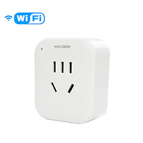 cheap Smart Plug-Smart Socket Mobile Phone Remote Wireless WiFi Timing Switch Household Intelligent Remote Control Socket 10A