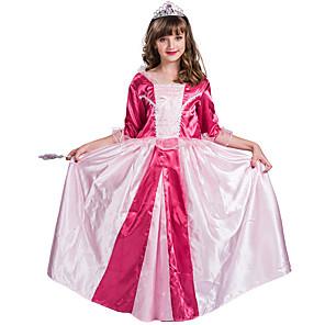 cheap Movie & TV Theme Costumes-Princess Aurora Flower Girl Dress Girls' Movie Cosplay A-Line Slip Pink Dress Halloween Children's Day Masquerade Polyester