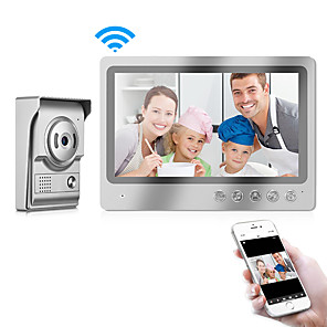 cheap Video Door Phone Systems-9 inch Indoor Monitor Wifi Video Door Phone Intercom System Doorbell Camera Intercom Video Doorbell Support App IOS and Android Smart Phone Control