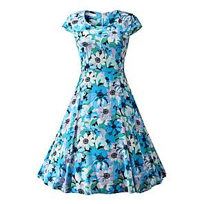 cheap Cycling Jerseys-Women's Sheath Dress Knee Length Dress - Short Sleeve Geometric Summer Casual 2020 Rainbow XS S M L XL XXL