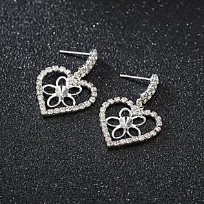 cheap Earrings-Women's Earrings Round Cut Heart Stylish Korean Sweet Earrings Jewelry Rose Gold / Silver For Gift Daily Work 1 Pair
