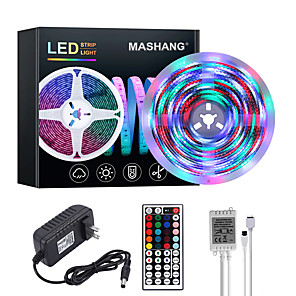cheap Abstract Paintings-MASHANG Bright RGBW LED Strip Lights 5M Waterproof RGBW Tiktok Lights 1170LEDs SMD 2835 with 44 Keys IR Remote Controller and 100-240V Adapter for Home Bedroom Kitchen TV Back Lights DIY Deco