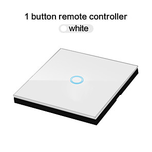 cheap Light Switches-EU Standard 1 Gang Way  Wireless Remote Wall Light Touch Switch Stick Remote Touch Switches