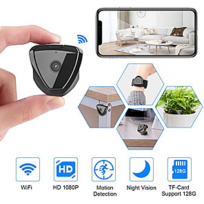 cheap Indoor IP Network Cameras-Mini Camera WiFi HD 1080P Mini Camera Wireless Camera Live Stream Motion Activated Camera Wireless Nanny Cam Security Camera for Home and Outdoor Newest Version