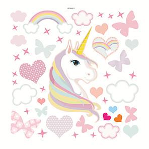 cheap Wall Stickers-Hearts /Unicorn Decorative Wall Stickers - Plane Wall Stickers Nursery / Kids Room