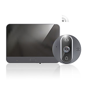 cheap Video Door Phone Systems-Tuya night vision Wifi Doorbell Viewer Peephole Monitor PIR Smart Home wireless doorring ip door eye bell camera monitor APP