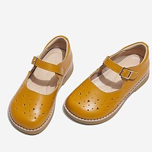 cheap Kids' Flats-Girls' Comfort Leather Flats Little Kids(4-7ys) Yellow / Red Summer