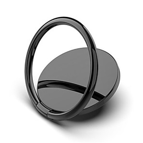 cheap Phone Mounts & Holders-Luxury metal Mobile Phone Socket Holder Universal 360 Degree Rotation Finger Ring Holder Magnetic Car Bracket Stand Accessories