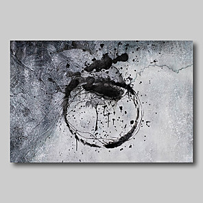 cheap Abstract Paintings-Oil Painting Hand Painted - Abstract Abstract Landscape Comtemporary Modern Rolled Canvas