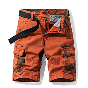 "cheap Tents, Canopies & Shelters-Men's Hiking Shorts Hiking Cargo Shorts Camo Summer Outdoor 10"" Standard Fit Breathable Quick Dry Sweat-wicking Multi-Pocket Cotton Shorts Bottoms Army Green Blue Orange Khaki Camping / Hiking"