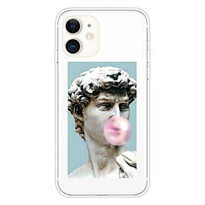 cheap iPhone Cases-Case For Apple iPhone 11 11 Pro 11 Pro Max XS XR XS Max 8 Plus 7 Plus 6S Plus 8 7 6 6s SE 5 5S Transparent Pattern Back Cover David Soft TPU