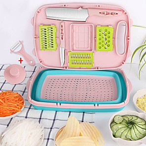 cheap Kitchen Utensils & Gadgets-11 PCS Multifunction Vegetable Slicer Mandoline Fruit Vegetable Cutter Carrot Potato Grater With Blade Kitchen Accessories