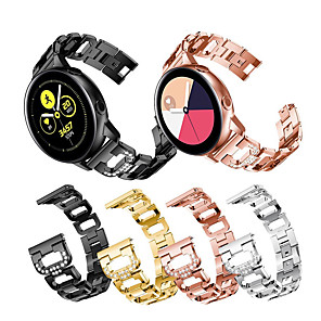 cheap Smartwatch Bands-Watch Band for Samsung Galaxy Watch 42mm / Samsung Galaxy Watch Active / Samsung Galaxy Watch Active 2 Samsung Sport Band / Modern Buckle / Jewelry Design Stainless Steel Wrist Strap
