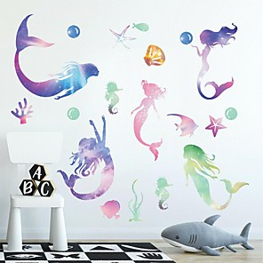 cheap Wall Stickers-Fairies Wall Stickers Plane Wall Stickers Decorative Wall Stickers PVC Home Decoration Wall Decal Wall Window Decoration 1pc