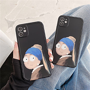 cheap iPhone Cases-Case For Apple iPhone 11 Pro Max / iPhone XR / iPhone XS Max Shockproof / Dustproof / IMD Back Cover Sexy Lady / Cartoon TPU