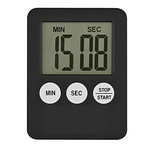 cheap Testers & Detectors-1Pc Super Thin LCD Digital Screen Kitchen Timer Square Cooking Count Up Countdown Alarm Magnet Clock