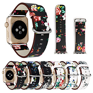 cheap Smartwatch Bands-Floral Flower Bands For Apple watch Series 5 4 3 2 1 38/40mm 42/44mm Silicone Pattern Printed Strap for iWatch Series