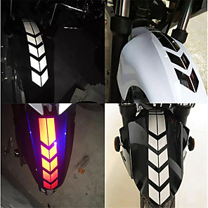 cheap Car Body Decoration & Protection-Motorcycle Reflective Stickers Wheel For Fender Waterproof Safety Warning Arrow Tape Car Decals Decoration Accessories